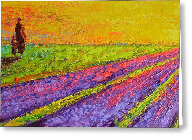Lavender Dreams Greeting Card by Patricia Awapara