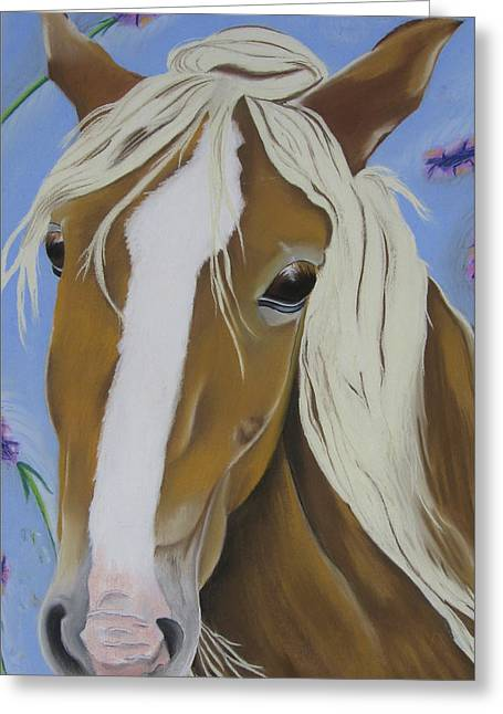 Equestrian Prints Pastels Greeting Cards - Lavender Horse Greeting Card by Michelle Hayden-Marsan