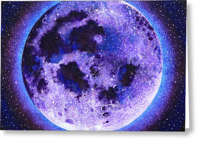 Lavender Moon Greeting Card by Shelley Irish