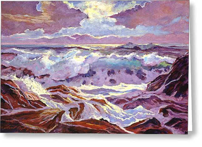 Best Choice Paintings Greeting Cards - Lavender Ocean Greeting Card by David Lloyd Glover
