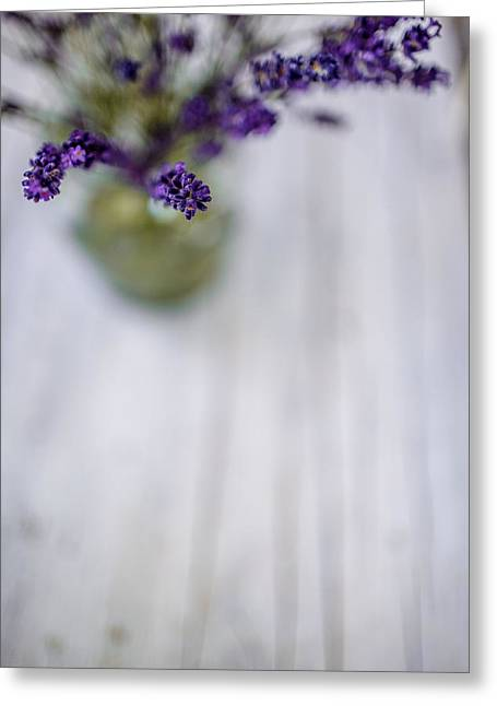 Lavender Greeting Cards - Lavender Still Life Greeting Card by Nailia Schwarz