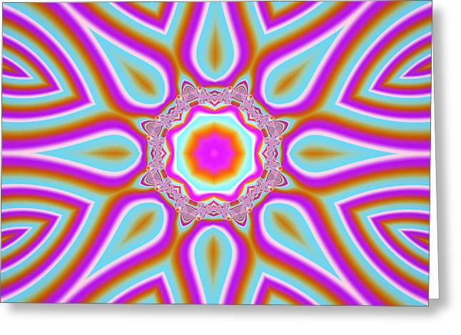 Geometric Artwork Greeting Cards - Lavender Sun Rays Greeting Card by Marv Vandehey