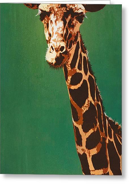 Stencil Mixed Media Greeting Cards - Lavish Lashes and Long Larynx Greeting Card by Iosua Tai Taeoalii