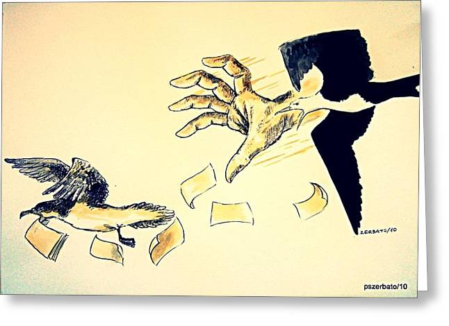 Bribery Greeting Cards - Law of the Strong Greeting Card by Paulo Zerbato