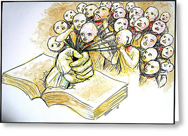 Oppression Mixed Media Greeting Cards - Law Greeting Card by Paulo Zerbato