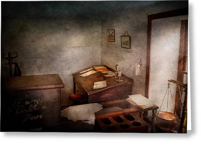 Lawyer - The Law office Greeting Card by Mike Savad