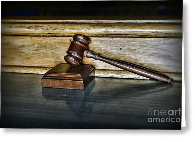 Lawyer - The Judge's Gavel Greeting Card by Paul Ward