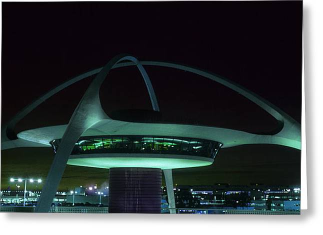 International Airports Greeting Cards - LAX Encounter Restaurant Greeting Card by Steve Williams