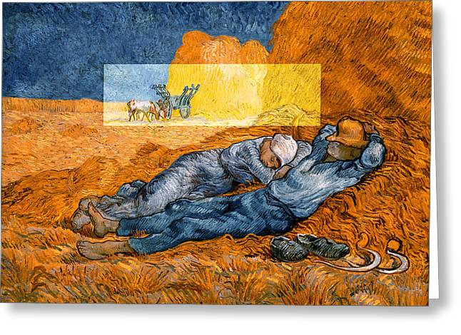 Layered 14 Van Gogh Greeting Card by David Bridburg