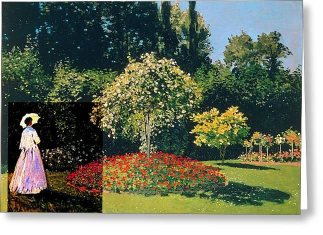 Layered 20 Monet Greeting Card by David Bridburg