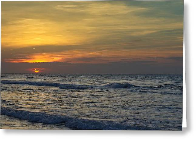 Ocean Art Photos Greeting Cards - Layered Clouds Greeting Card by Brian Hamilton