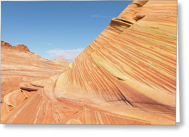 Layers In A Sandstone Cake Greeting Card by Tim Grams
