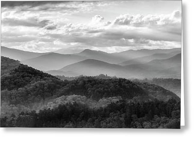 Layers In The Smokies Greeting Card by Jon Glaser