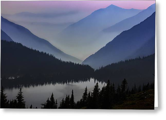 Layers Of Serenity Greeting Card by Mike Lang