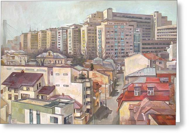 Original By ist Paintings Greeting Cards - Layers of Time Greeting Card by Filip Mihail