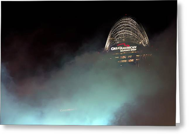 Allstar Greeting Cards - Laser light smoke and Great American Greeting Card by Randall Branham