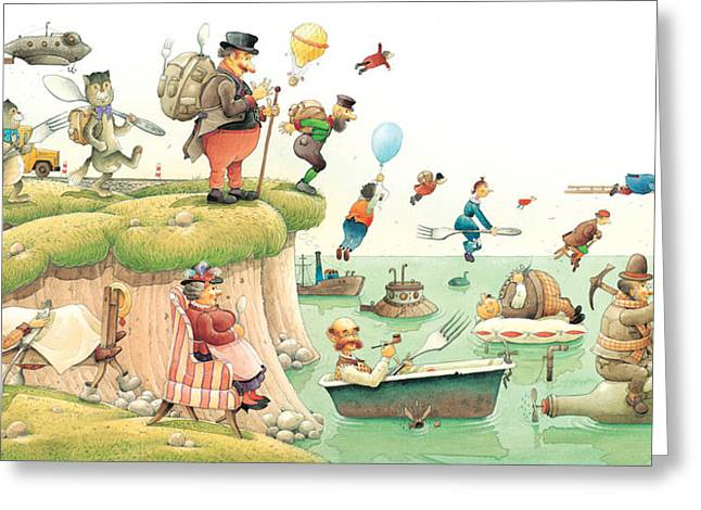 Seen Greeting Cards - Lazinessland02 Greeting Card by Kestutis Kasparavicius