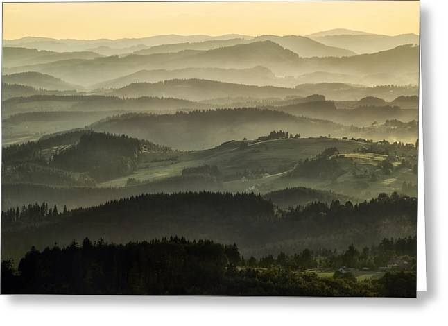 Layer Greeting Cards - Lazy afternoon in Beskid Greeting Card by Jaroslaw Blaminsky