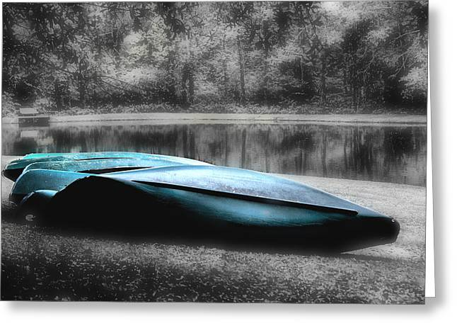 Canoe Greeting Cards - Lazy Canoes Greeting Card by Greg Sharpe