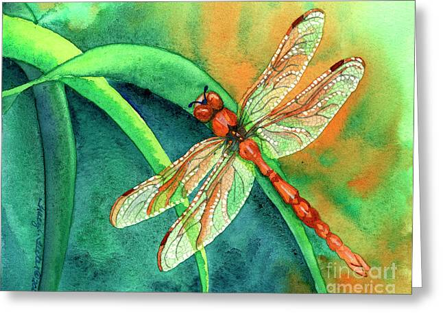 Dragonflies Greeting Cards - Lazy Days Greeting Card by Tracy L Teeter