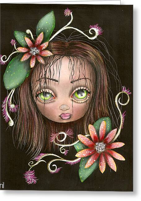 Tattoo Flash Paintings Greeting Cards - Lazy Eye Greeting Card by  Abril Andrade Griffith