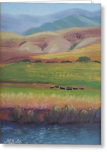 Lazy Grazing  Greeting Card by Margaret Bobb