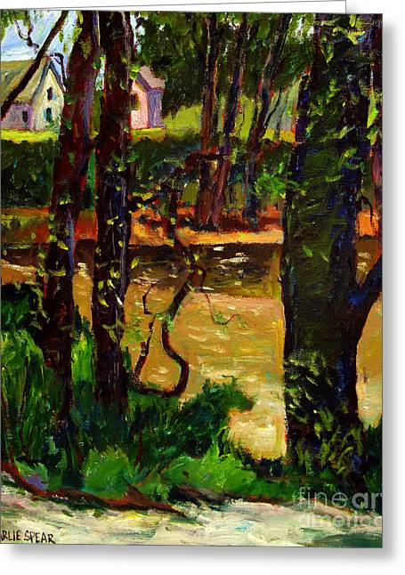 Value Greeting Cards - Lazy River Eel plein air Greeting Card by Charlie Spear