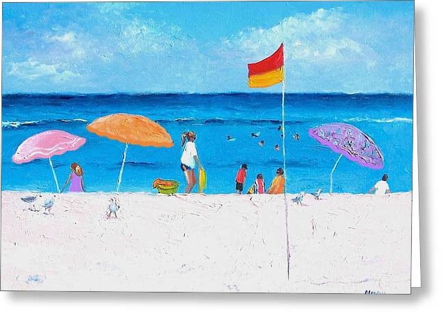 Seaside Greeting Cards - Lazy Summer Day Greeting Card by Jan Matson