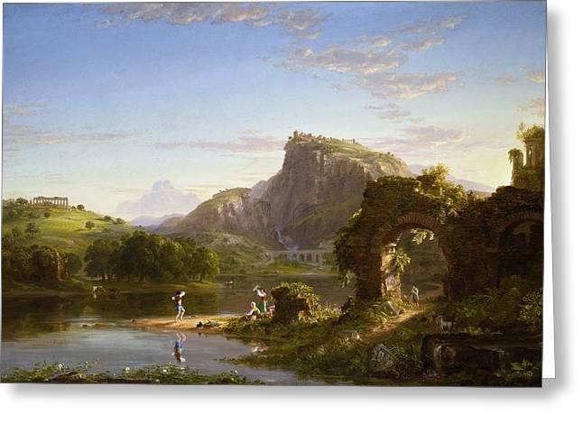 Thomas Cole Greeting Cards - Le Allegro Greeting Card by Celestial Images