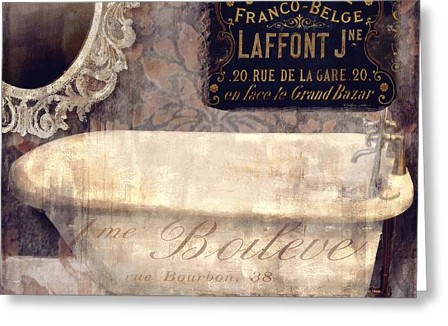 Bathtub Greeting Cards - Le Bain Paris Greeting Card by Mindy Sommers