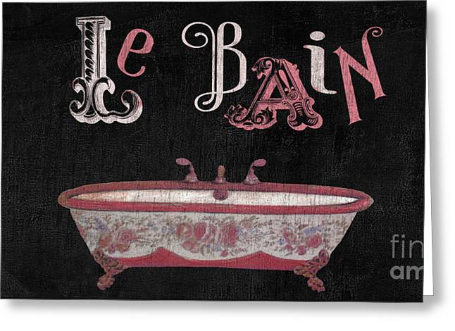 Le Bain Paris Sign Greeting Card by Mindy Sommers