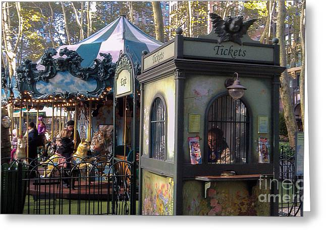 Occasion Greeting Cards - Le Carrousel part2- Bryant Park NYC Greeting Card by  ILONA ANITA TIGGES - GOETZE  ART and Photography