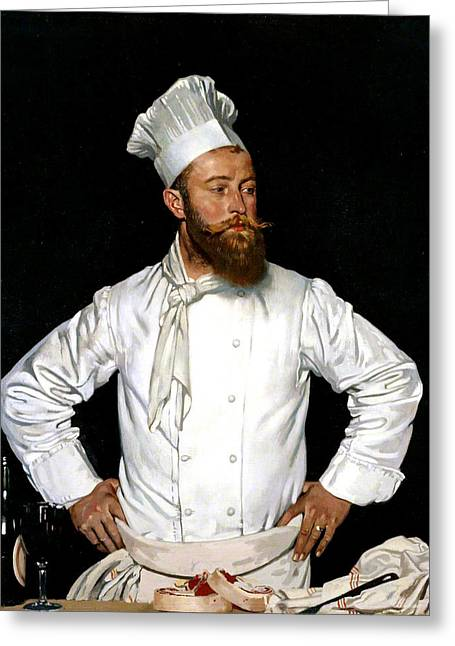 Le Chef De L'hotel Chatham Greeting Card by William Orpen