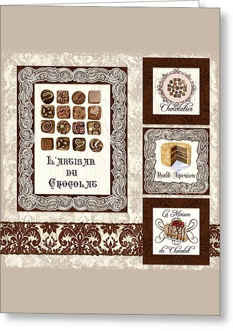 Truffles Greeting Cards - Le Chocolatier - L Artisan du Chocolat Greeting Card by Audrey Jeanne Roberts