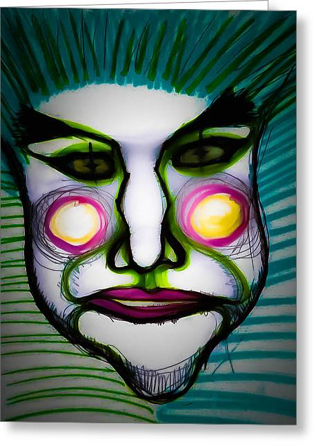 Michelle Drawings Greeting Cards - Le Clown Douce Greeting Card by Michelle Saraswati