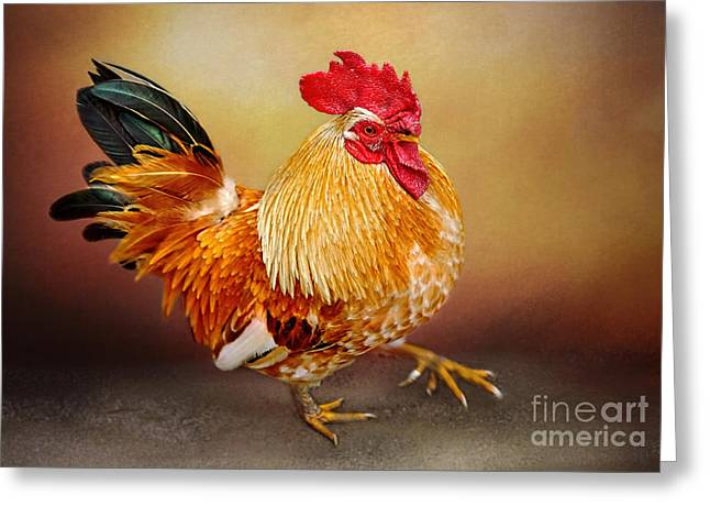 Texture Overlay Greeting Cards - Le Coc dOr by Kaye Menner Greeting Card by Kaye Menner