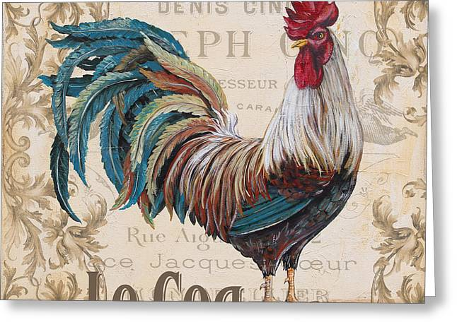Le Coq Greeting Cards - Le Coq-JP3084 Greeting Card by Jean Plout