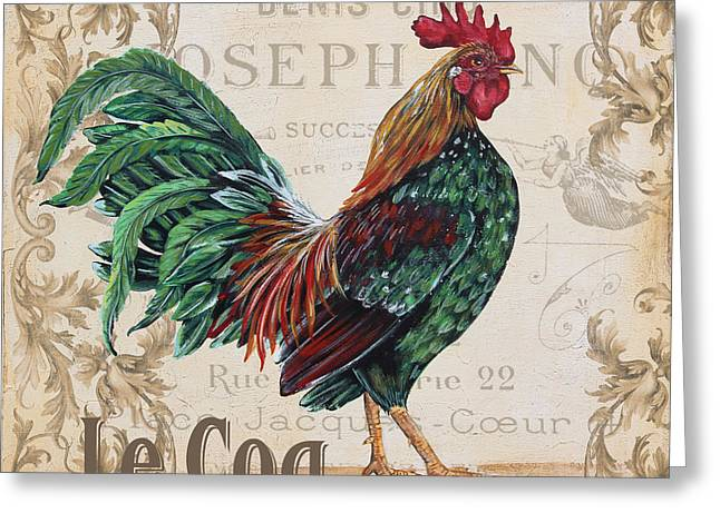 Le Coq Greeting Cards - Le Coq-JP3087 Greeting Card by Jean Plout