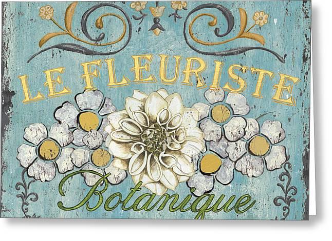 Le Fleuriste De Botanique Greeting Card by Debbie DeWitt