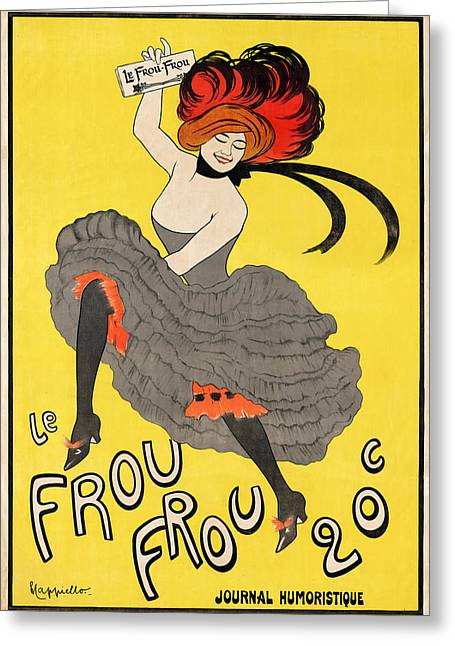 Journal Drawings Greeting Cards - Le Frou Frou journal humoristique Greeting Card by Leonetto Cappiello