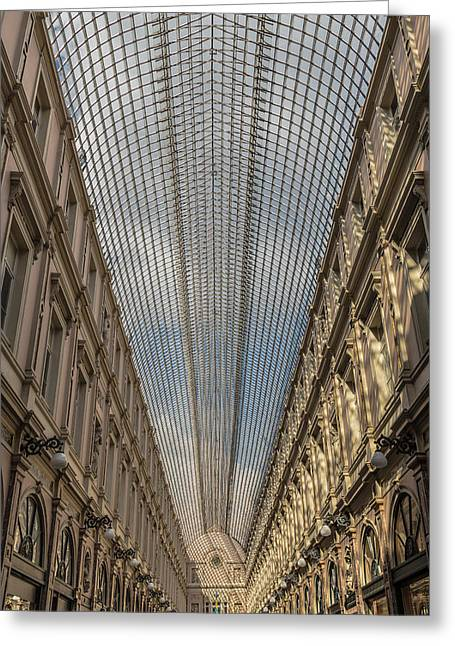 Les Greeting Cards - Les Galeries Royales Saint-Hubert Greeting Card by Chris Fletcher