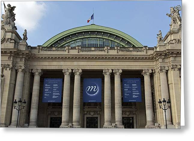 Historic Site Greeting Cards - Le Grand Palais - Main Entrance  Greeting Card by Hany Jadaa  Prince John Photography