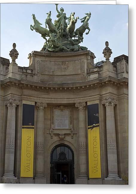 Historic Site Greeting Cards - Le Grand Palais - Street Corner Entrance  Greeting Card by Hany Jadaa  Prince John Photography