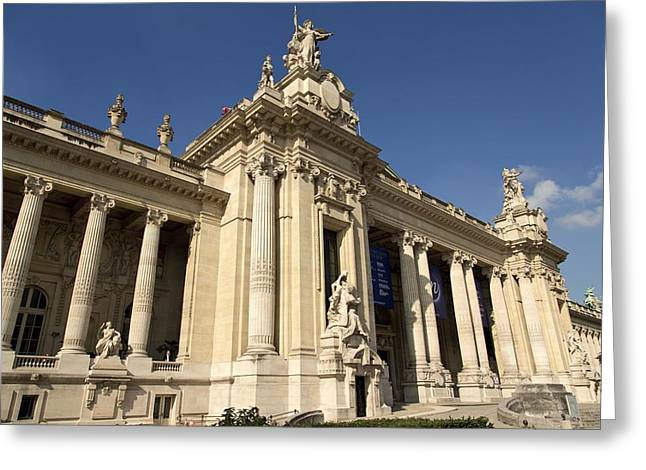 Historic Site Greeting Cards - Le Grand Palais - Wide Angle View  Greeting Card by Hany Jadaa  Prince John Photography