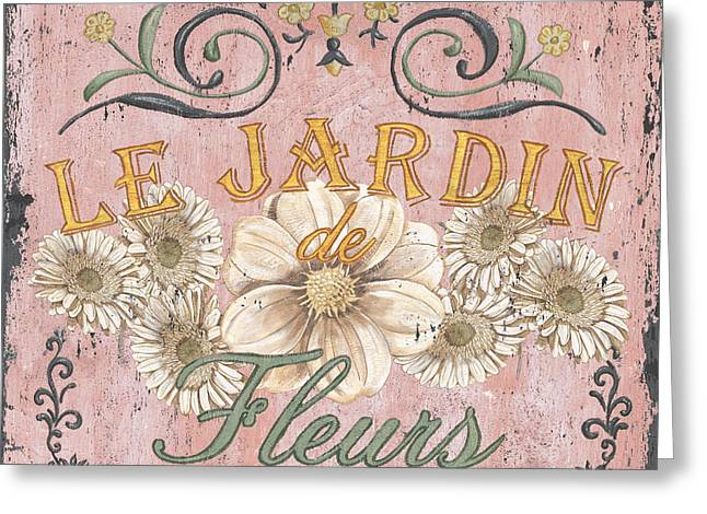 Pink Blossoms Greeting Cards - Le Jardin 1 Greeting Card by Debbie DeWitt