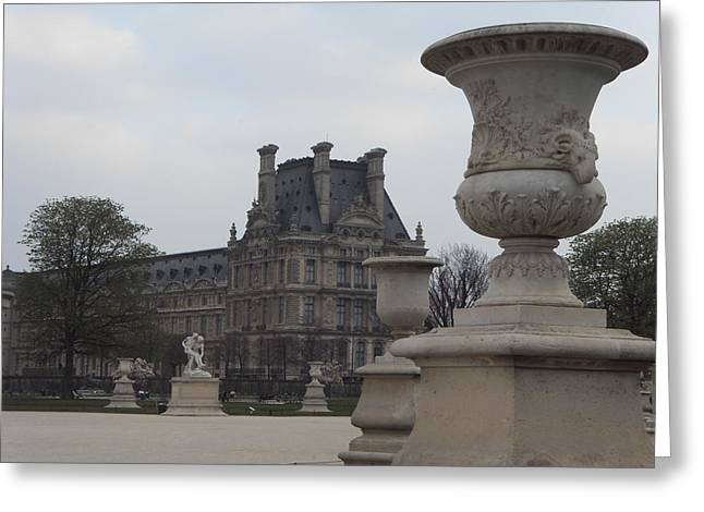 Garden Statuary Greeting Cards - Le Jardin des Tuileries in Paris Greeting Card by Brock Gengler