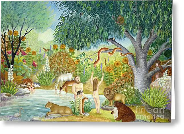 Not Talking Greeting Cards - Le Jardin  Du Paradis Greeting Card by Colette Raker