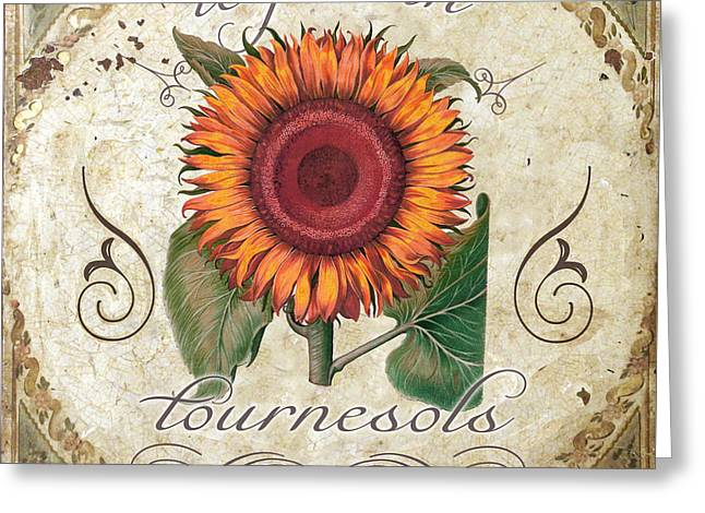 Le Jardin Greeting Cards - Le Jardin Tournesols  Greeting Card by Mindy Sommers