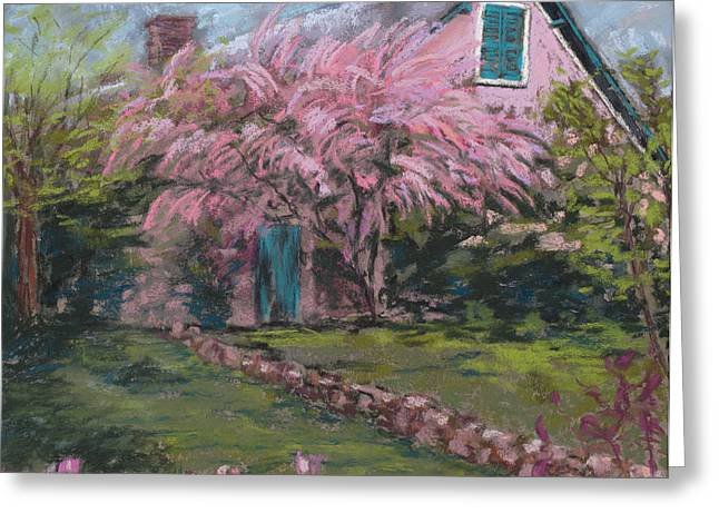 Beauty Pastels Greeting Cards - Le Maison de Monet Greeting Card by Mary Benke