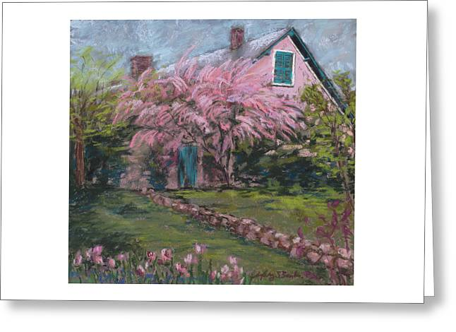 Historic Home Pastels Greeting Cards - Le Maison de Monet Greeting Card by Mary Benke
